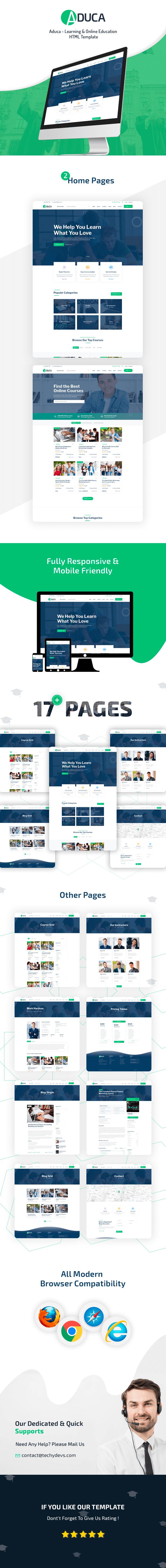 Aduca - Online Education & LMS HTML5 Template
