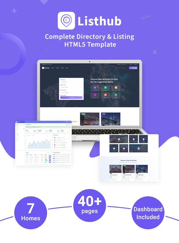 Listhub -Directory & Listing HTML Template with Dashboard - 2