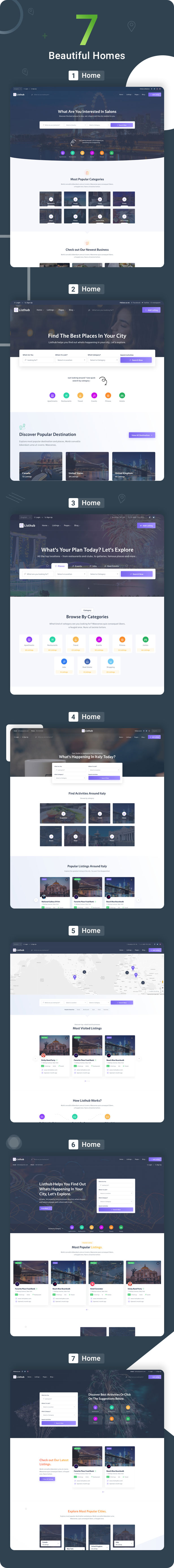 Listhub -Directory & Listing HTML Template with Dashboard - 3