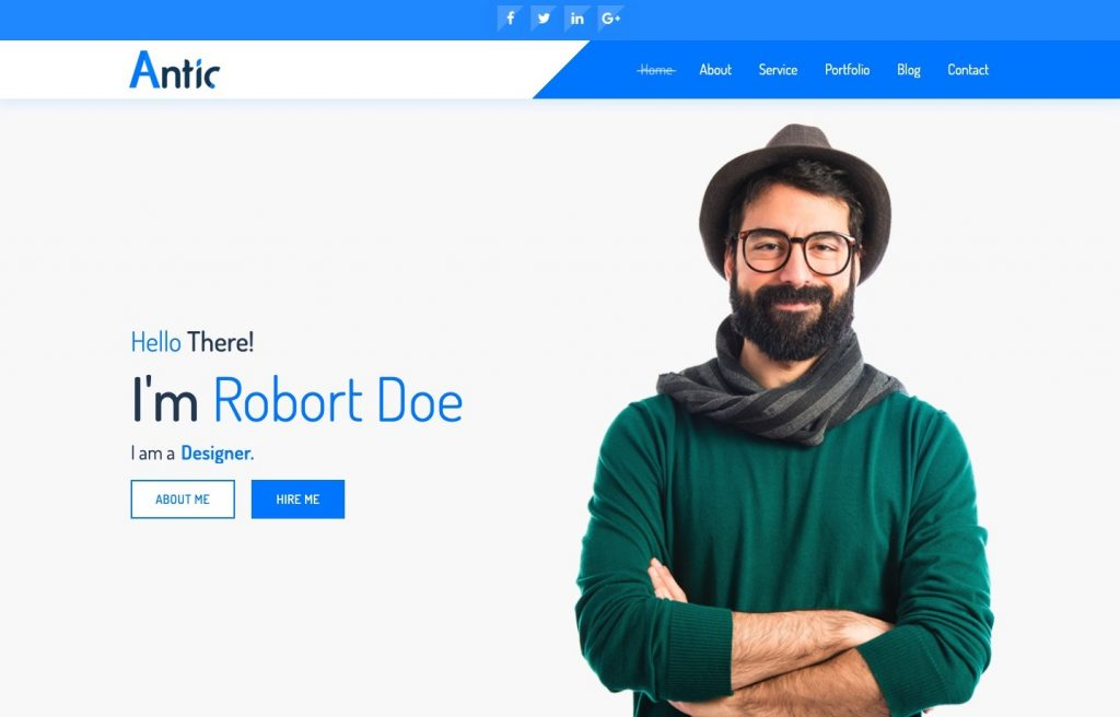 antic html template