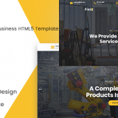 Finix – Industrial & Construction HTML Template