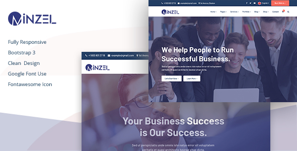 Minzel Pure Business and Consulting HTML Website Template