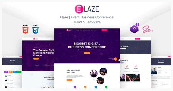 Elaze HTML Event Template
