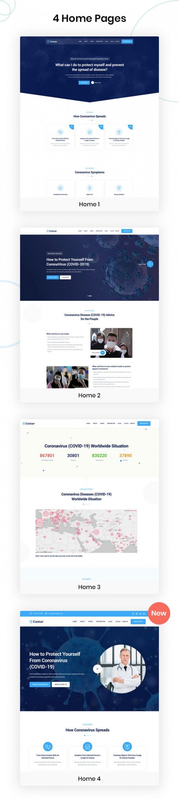Costar - Coronavirus Medical Prevention HTML Template